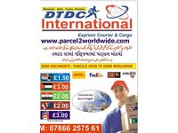 NATIONWIDE COLLECTION/FROM £1.50 KG-SEND CARGO/PARCEL/SHIPPING/DOCUMENTS TO INDIA -EUROPE-USA-DUBAI