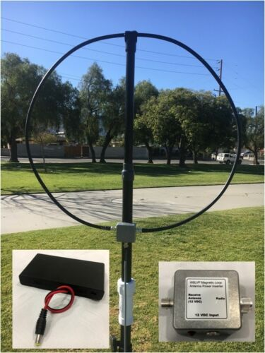 W6LVP Amplified Receive-Only Magnetic Loop Antenna - Portable Version