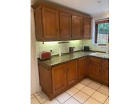 FREE solid wood kitchen with granite worktop
