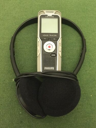 Phillips Voice Tracer Model #DVT5500 Built In Radio Tested Working