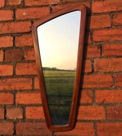 Vintage Teak Framed Mirror