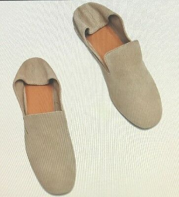 ZARA WOMENS LEATHER SLIPPERS SAND SZ 7.5 NEW for sale  Strongsville