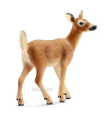Schleich 14710 White-tailed Doe Deer Toy Wild Animal Figurine Model Toy - NIP