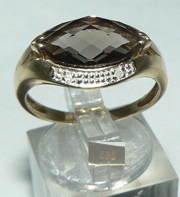 Ring aus 585er Gold mit Rauchquarz, Gr. 60/Ø 19,1 mm  (da4463)