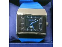 Men's SBAO® Watch with silicone strap and wide face in *excellent condition*