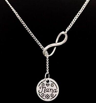 Nana Necklace Christmas Mother's Day Gift For Grandma Y Infinity Lariat (Christmas Gift Grandma)