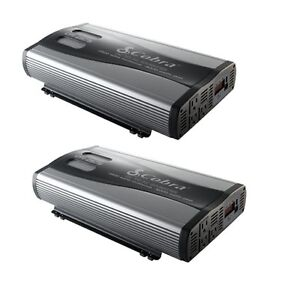 $349.99 - 2 COBRA CPI-2575 2500 WATT Car Power Inverters DC to AC