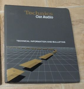 Technics Car Audio Dealer Information Binder & Tech Bullitins.