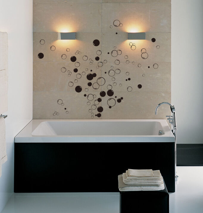 90x Bubbles Bathroom Vinyl Wall Stickers, Shower Door
