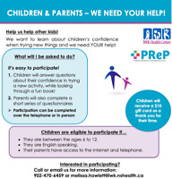 CHILDREN AGES 6-12 AND PARENT NEEDED FOR IWK STUDY