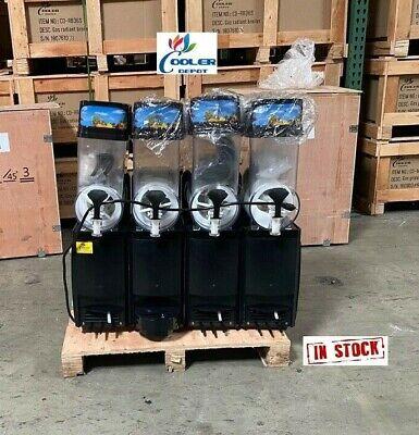 New 4 Bowl 15l Slushie Machine Slush Puppie Icee Frozen Cocktail Maker Tripple