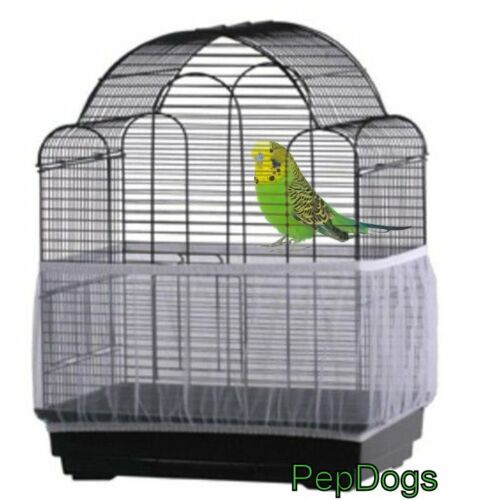 Prevue Seed Catcher Seed Guard Mesh Bird Cage Cover Skirt