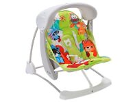 Fisher price woodland friends take along baby swing
