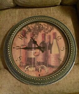 Clock with Wine Bottles