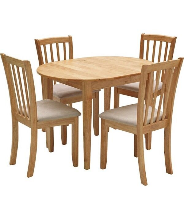 Dining Table and 4 Chairs Banbury Range on Homebase in  : 86 from www.gumtree.com size 600 x 714 jpeg 40kB