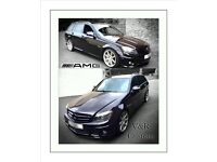Mercedes c class front splitter rear splitter side skirt exstensions BMW Audi Volkswagen
