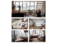 Cosy double room in beautiful top-floor Hackney Wick warehouse conversion