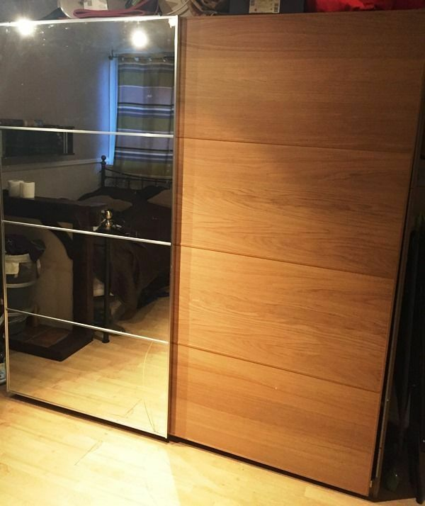 ikea sliding door mirror pax wardrobe west london