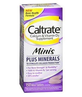 Caltrate Calcium   Vitamin D3 Supplement Plus Minerals Mini Tablets  150 Ea