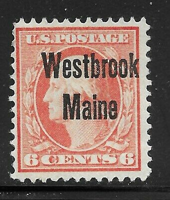 Maine Precancels - Westbrook L-1 - 1908 6c Washington/Franklin