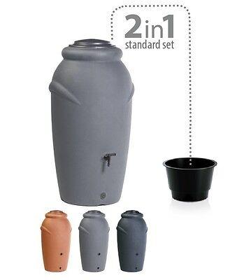 Regenwassertonne Regentonne Regenbehälter Regentank Amphore 210L 360L 3 Farben online kaufen