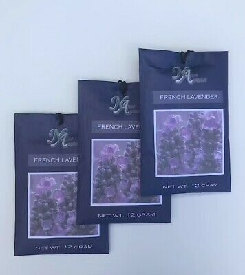 3 Scented Fragrance Sachet Pouch Air Freshener Wardrobe Home Drawer Perfume -