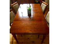 Laura Ashley preloved Chatsworth dining table and chairs