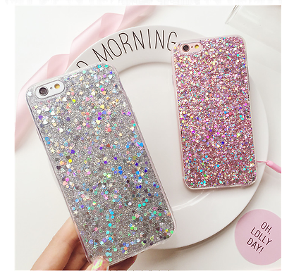 Luxury Bling Glitter Shockproof Soft Silicone Case Cover For iPhone 6 6S 7 Plus