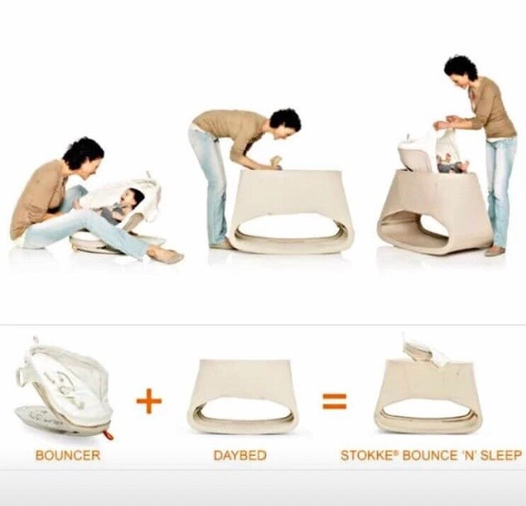 Stokke Bounce N Sleep Bouncer Day Bed In Worcester Park