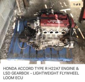 Honda 2.2 accord type R engine, gearbox, LSD