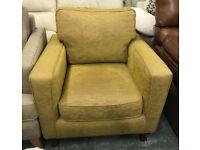 Mustard / Green Fabric Armchair