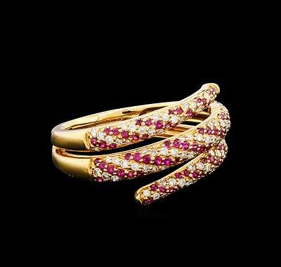 0.37 ctw Ruby and Diamond Ring - 18KT Rose Gold Lot 657