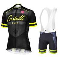 Completo Ciclismo/cycling Jersey And Pants Team Castelli Yellow -  - ebay.it