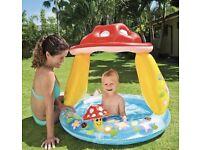 Baby child mushroom paddling pool