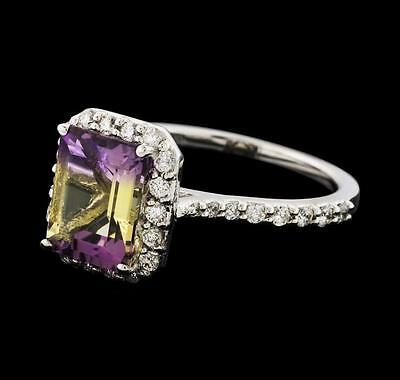2.17 ctw Ametrine and Diamond Ring - 14KT White Gold Lot 654