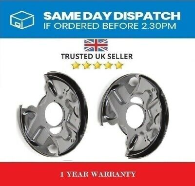 2 x REAR BRAKE DISC PLATE DUST COVER SPLASH SHIELD MUDGUARD- MERCEDES C E CLASS