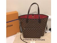 Louis Vuitton Neverfull Designer Bag Clutch Travel Wallet Purse Tote