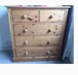 Solid Pine Chest of Drawers and/or Bedside Table