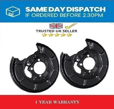 2x REAR BRAKE DISC PLATE DUST COVER SPLASH SHIELD- MERCEDES A W169 B W245 CLASS