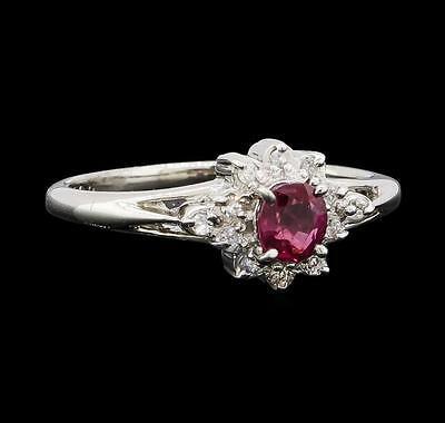 0.30 ctw Ruby and Diamond Ring - Platinum Lot 663