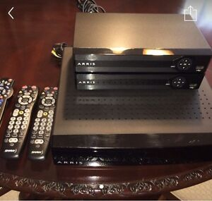 Shaw arris PVR gateway system with two boxes