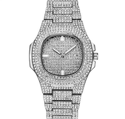 Watch Women Men Diamond S Gold Rapper Metal Iced Luxuray Brand Quartz Hip Hop