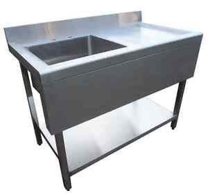 ... Catering Kitchen Stainless Steel Sink 1000mm with Valance Single Bowl