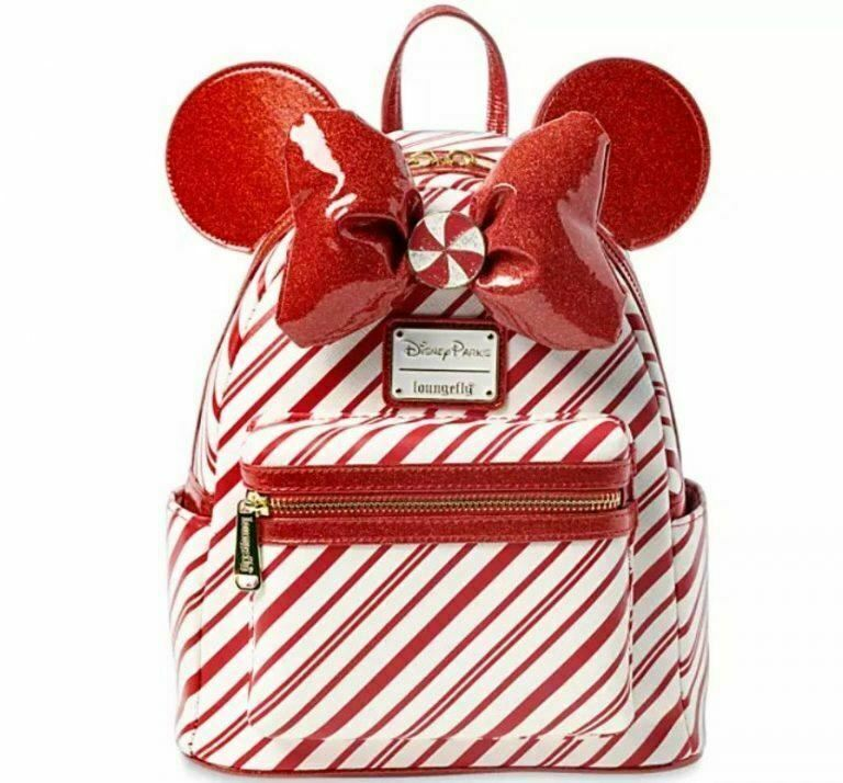 Disney Peppermint Candy Christmas Minnie Mouse Backpack