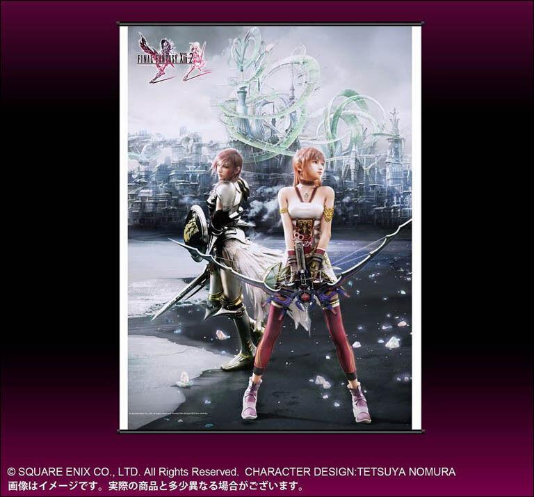 Final Fantasy XIII-2 Lightning & Serah WALL SCROLL Playstation 3 XBOX 360 Poster