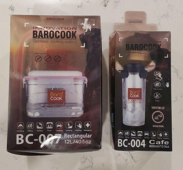 Barocook Rectangular Flameless Cookware System 40.5 OZ & Cafe Tumbler