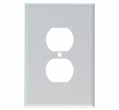 Leviton Duplex Single Gang (Leviton 88103 001-88103-W Single Gang White Duplex Receptacle Wallplate)