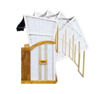 XL Strandkorb gold grau weiß gestreift Garten Lounge Gastronomie massiv NEU gebraucht kaufen  Lauscha