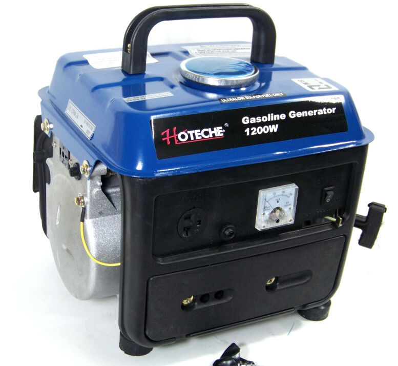 PORTABLE GASOLINE  ELECTRIC POWER GENERATOR 1200W OUTPUT VOLTAGE 120V/60HZ AC