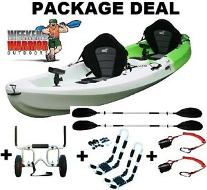DOUBLE Kayak 2.5 or Triple FAMILY Fishing Package Trolley J Racks Erina Gosford Area Preview